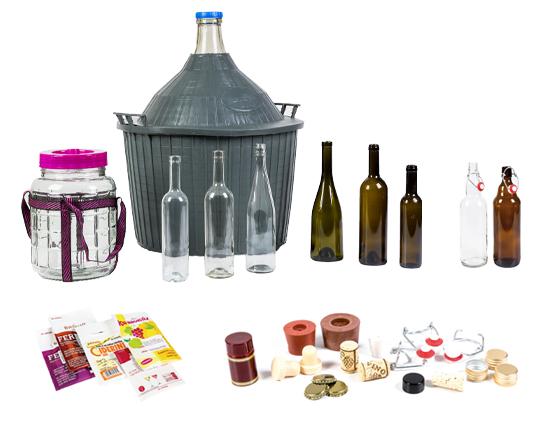 Veinipurgid, -pudelid, õllepudelid, pärmid, korgid